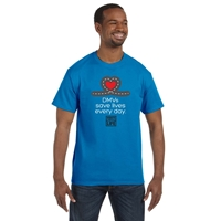 Picture of DMV Appreciation Cotton T-shirt with 1 Color Donate Life Logo