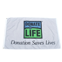Picture of 3' x 5' Donation Saves Flag - Bulk