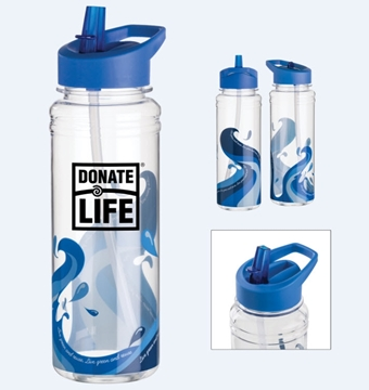 Picture of 25 oz. Clear Wave Water Bottle