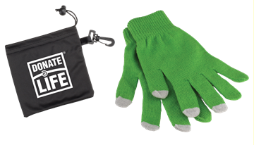 Picture of 3 Finger Touch Screen Gloves in Pouch