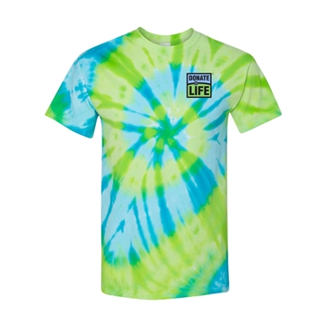 Picture of Lime and Blue 100% Cotton Tie Dye T-shirt