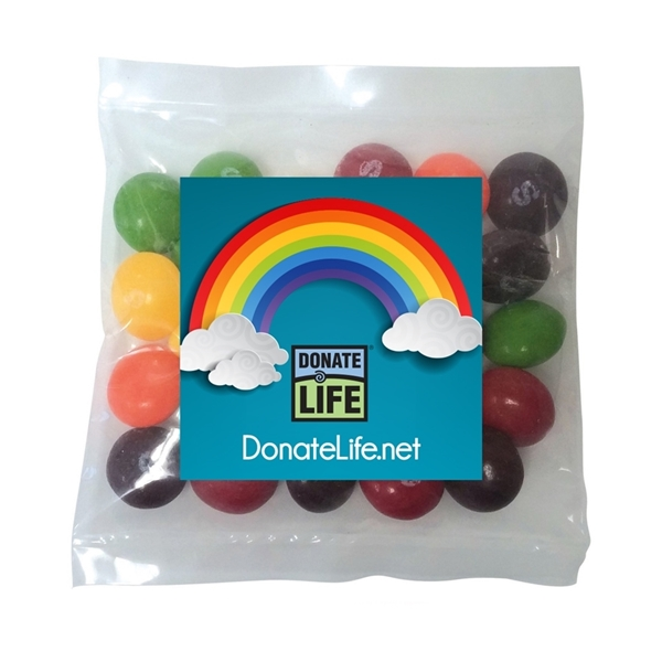 Picture of Rainbow Mini Bag of Skittles with Full Color Square Magnet