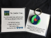 Picture of Donate Life Comfort Stone Keychain - Bulk