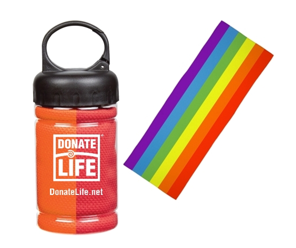 Picture of Rainbow Cooling Towel in Carabiner Case