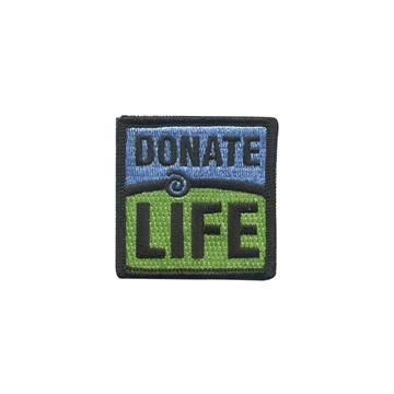 "Picture of Donate Life 2"" x 2"" Patch"