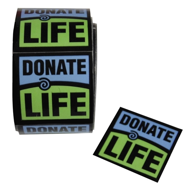 Picture of Donate Life Stickers - 10 rolls/pk