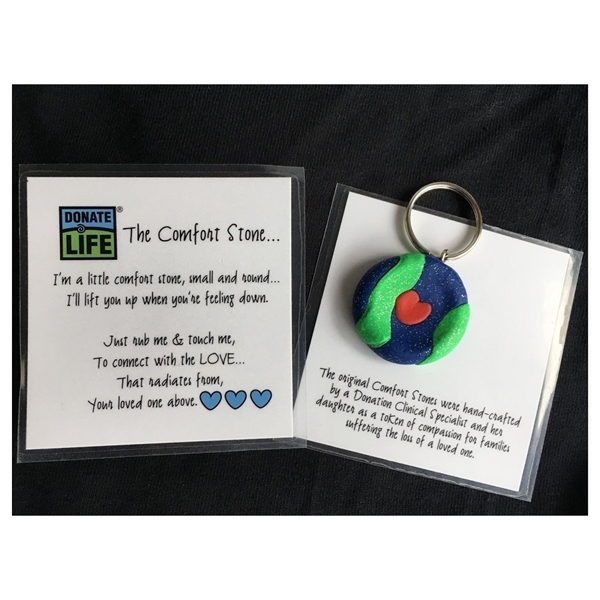 Picture of Donate Life Comfort Stone Keychain - 100/pk