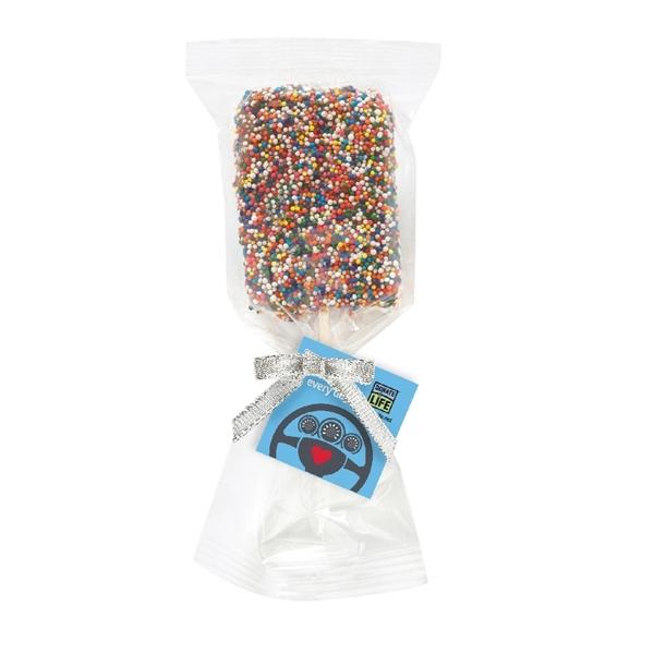 Picture of DMV Appreciation Chocolate Covered Krispy Pop w/sprinkles