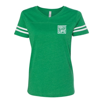Picture of LAT Women's Football V-Neck Fine Jersey Tee